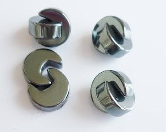 Set of 4 10mm hematite beads