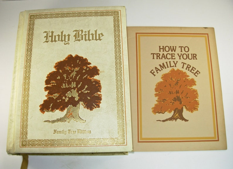 1977 HOLY BIBLE Family Tree Edition, King James, Red Letter, Royal  Publishing, Illustrated, Old & New Testaments, Genealogy