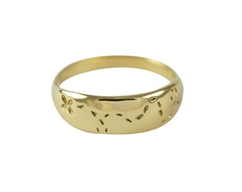 You Found Me Ring, 14K Gold Ring, Found Ring, Treasure Ring, Trail Ring, Love Ring, Couples Ring, Sweetheart Ring, X Marks the Spot Ring