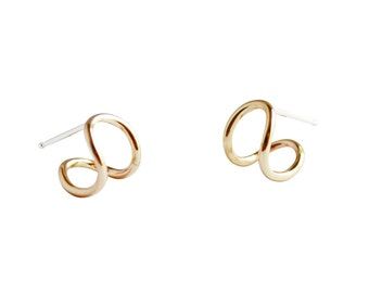 Cuddle Studs, Simple Gold Earrings, Everyday Earrings, Gold Cuff Earrings, Small Hoop Earrings, Tiny Gold Hoops, Little Hoops, Minimal Earri