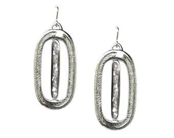 Paradise Palm Earrings, Mother of Pearl Earrings, Stone Inlay, Palm Leaf Earrings, Statement Earrings, Chunky Earrings, Dangle Big Earrings