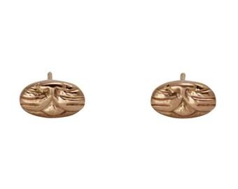 Gold Cat Earrings, Cute Earrings, Small Cat Earrings, Cat Jewelry, 14K Earrings, Crazy Cat Lady Earrings, Small Gold Earrings, Simple Studs