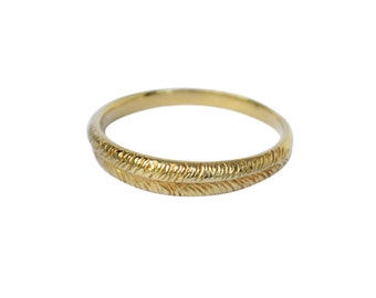 Single Palm Ring, Palm Leaf Ring, Simple Ring, Thin Gold Ring, Thin Stackable Ring, Feather Ring, Textured Ring, Branch Ring, Minimal Ring