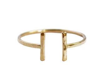 Open Thin Gold Ring, Thin Gold Ring, Simple Gold Ring, Simple Design Ring, Adjustable Ring, 14K Gold Ring, Minimal Gold Ring, Delicate Ring