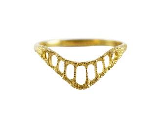 Spitze-Ring, zarter Ring, dünnen Ring, komplizierte Ring, Stapelring, Kontur Ring, Ehering, Alternative Hochzeit Band, strukturierter Ring
