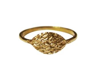 Water Ring, Ocean Ring, Waves Ring, Thin 14K Gold Ring, Thin Silver Ring, Signet Ring, Simple Ring Design, Minimal Ring