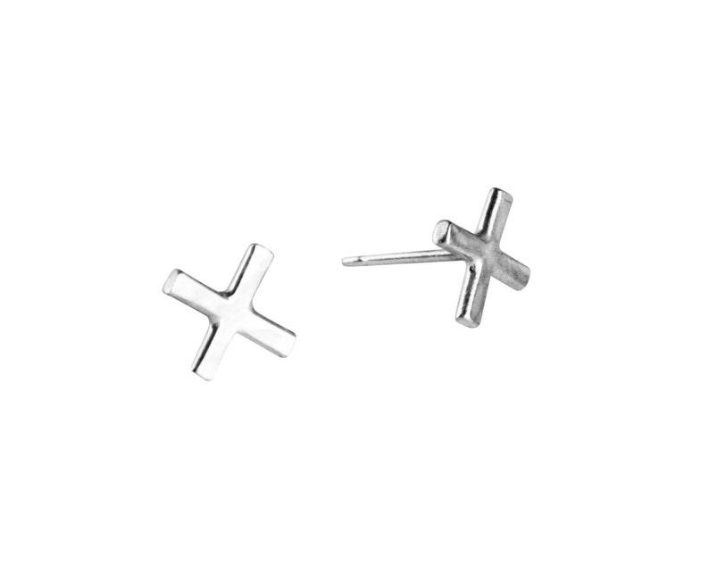 ddcfe7656 Silver X Studs X Earrings X jewelry Sterling Silver | Etsy
