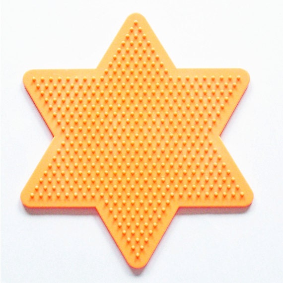 Large Star Perler Bead Pegboard Ironing Paper Instructions Etsy