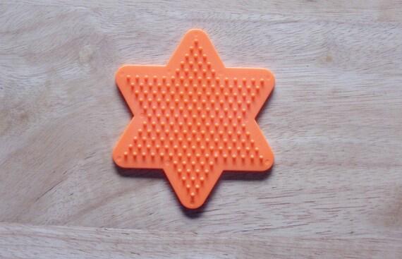 Perler Bead Orange Star Pegboard Ironing Paper Instructions Etsy
