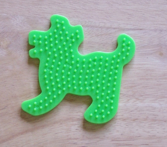 Perler Bead Green Puppy Pegboard Ironing Paper Instructions Etsy