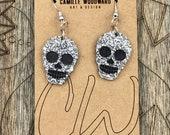 Skull Acrylic Earrings