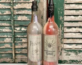 Halloween Apothecary Shop Potion Bottles