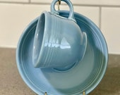 P86 Fiestaware Periwinkle Blue Cup Saucer