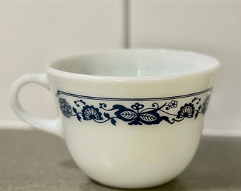 Vintage Pyrex Old Town Blue Cup Mug Coffee Cup Tea Cup