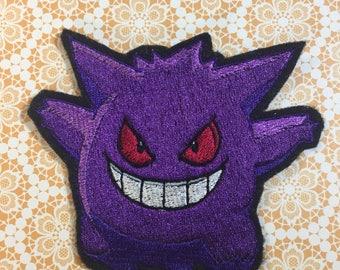 Gengar Pokemon inspired purple ghost 4