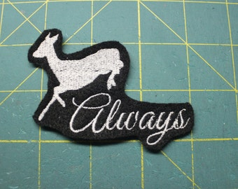 Always Snape quote Harry Potter inspired iron on patch
