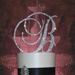 Gorgeous Swarovski Crystal Wedding Cake toppers 4'' in Any Letter monogram custom cake topper, bling cake topper, rhinestone cake topper