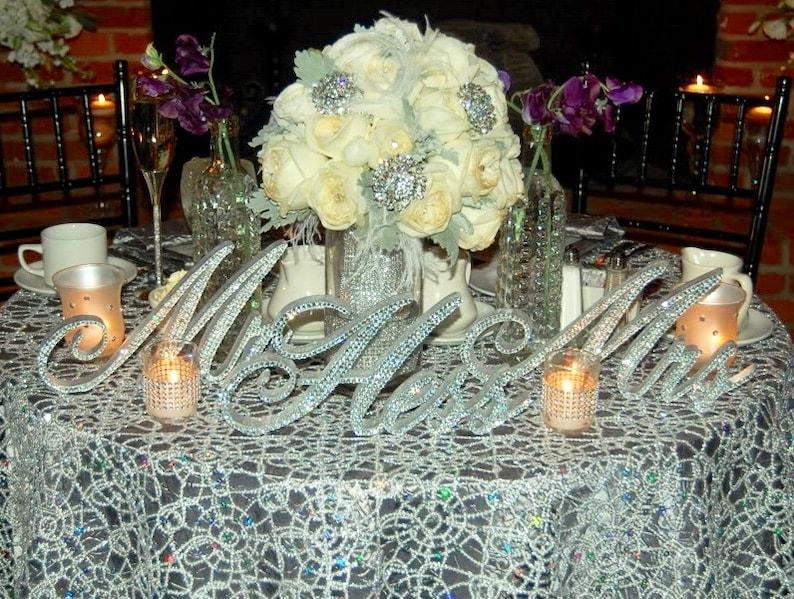 Custom Swarovski Crystal Mr & Mrs PLUS 6 letters LAST | Etsy