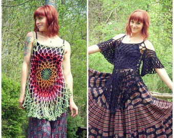Crochet PATTERN: Mandala Top ADD-ONS only/ Mandala Top Drop Sleeves / Mandala Top Dress Extension /Instant Download pdf
