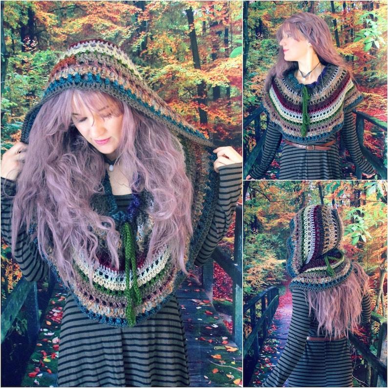 Crochet PATTERN: Rhiannon Hooded Cowl / Easy Crochet Pattern / image 0