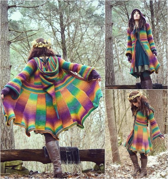 Crochet PATTERN: Elf Coat Tunisian Crochet Pattern / Fantasy
