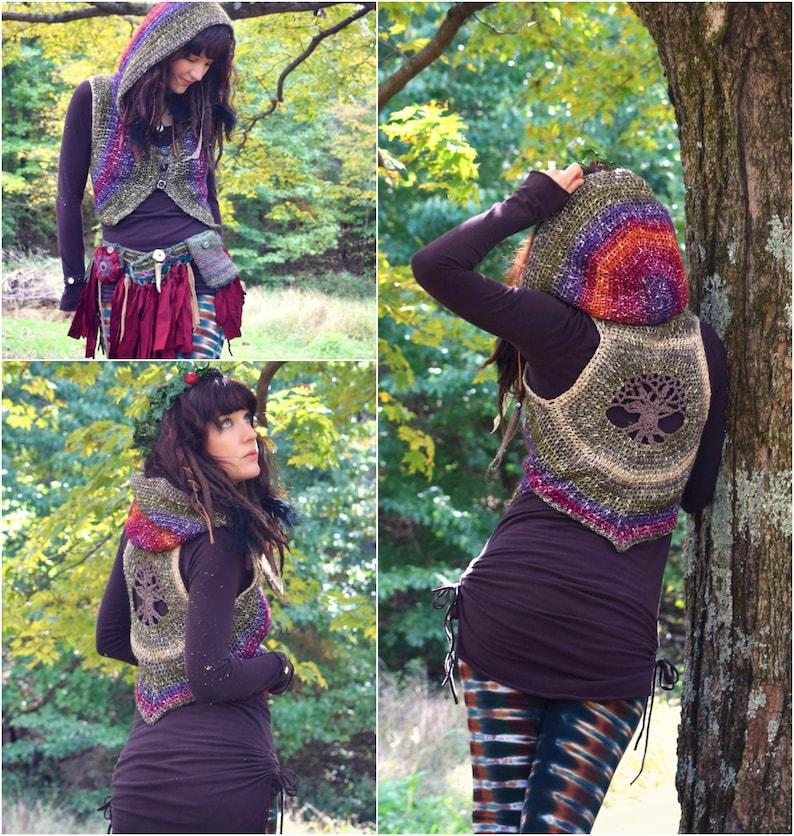 Crochet PATTERN: Embla Vest / Tree of Life Crochet Vest / image 0