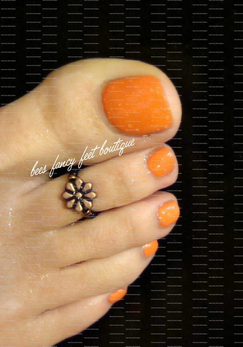 Daisy Toe Ring Daisy Ring Copper Daisy Copper Toe Ring image 0