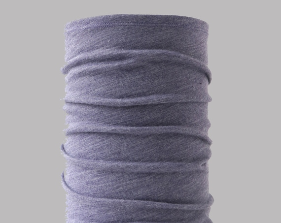 Lightweight Merino Neck Gaiter, Head Band and Face Covering in Lavender Heather