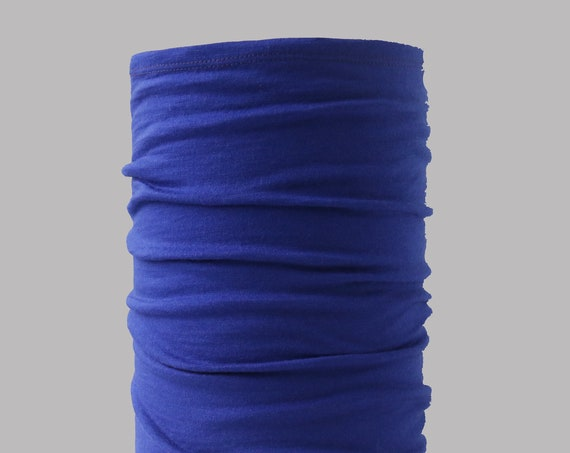 Lightweight Merino Neck Gaiter, Head Band and Face Covering in Lapis