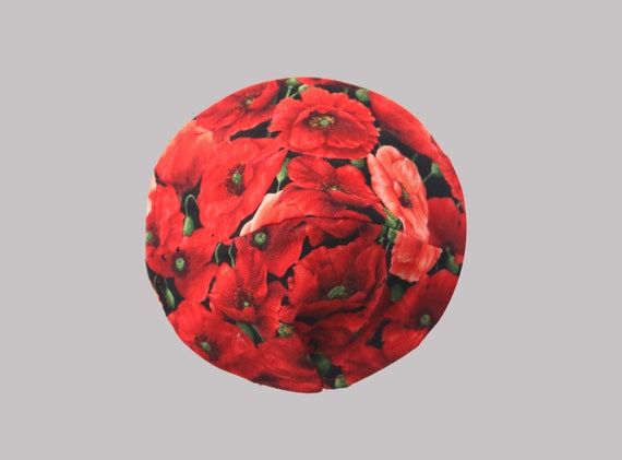 Fitted Face Mask in Poppy