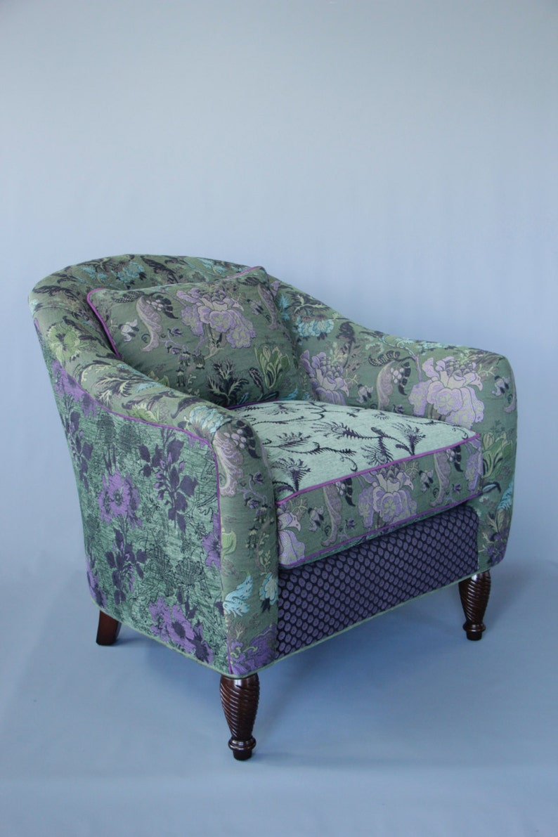 Highlands Poppy Jacquard Woven Floral Upholstery Fabric