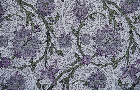 Silver Boston Vine Jacquard Woven Floral Upholstery Fabric