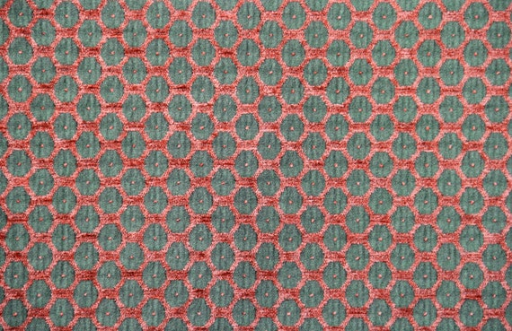 Melon Dot Jacquard Woven Upholstery Fabric