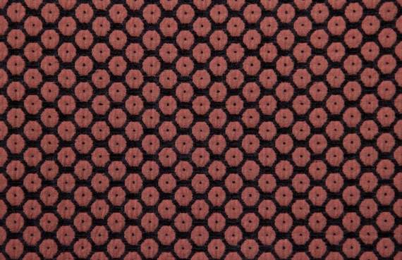 Orange Dot Jacquard Woven Upholstery Fabric