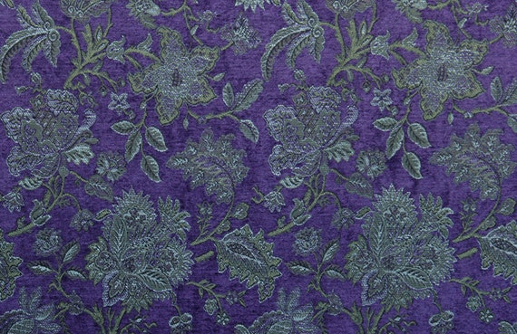 Hyacinth Bouquet Jacquard Woven Floral Upholstery Fabric