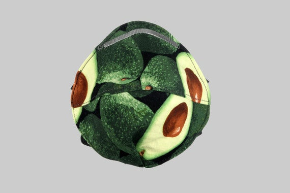 Fitted Face Mask in Avocado