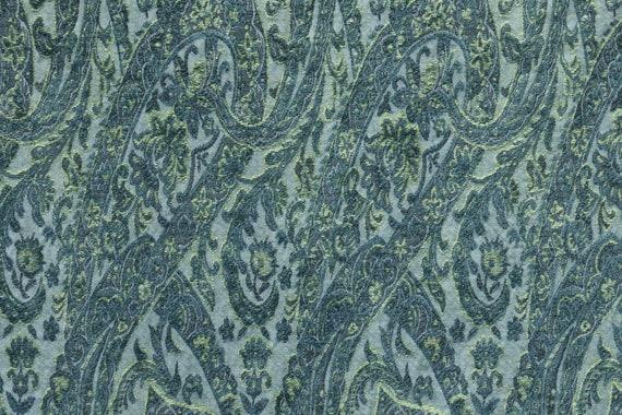 Cornflower Ribbon Jacquard Woven Floral Upholstery Fabric