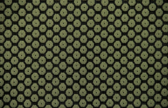 Olive Dot Jacquard Woven Upholstery Fabric