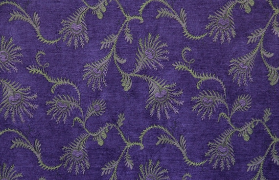 Hyacinth Fern Jacquard Woven Floral Upholstery Fabric