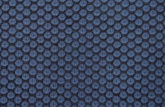 Blue Dot Jacquard Woven Upholstery Fabric