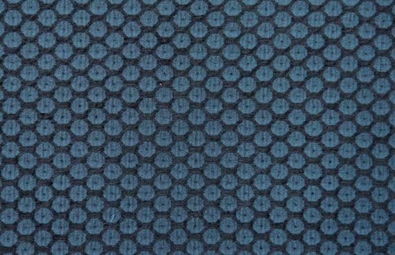 Teal Dot Jacquard Woven Upholstery Fabric