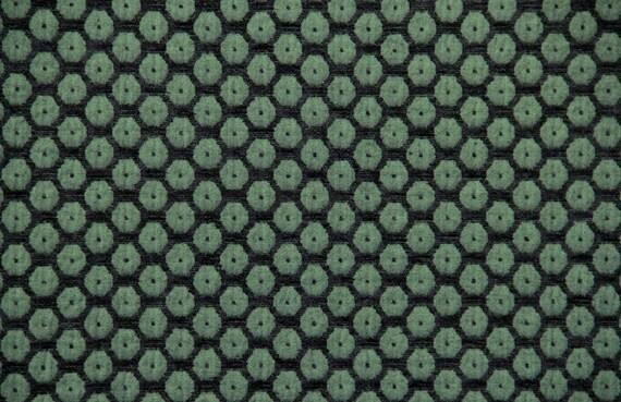 Green Dot Jacquard Woven Upholstery Fabric