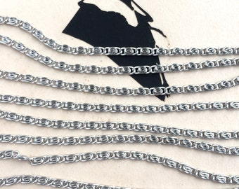 Vintage Scroll Chain, Tiny Silver Scroll Chain, 5Ft