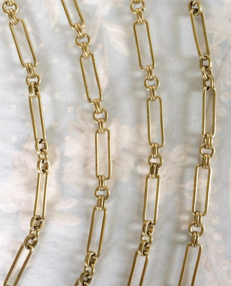 Vintage Corey Chain Heavy Brass Chain Large Fancy Chain image 0