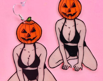 Pumpkin pinup 2 earrings