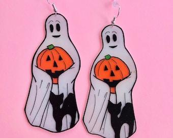 XL ghost cutie earrings