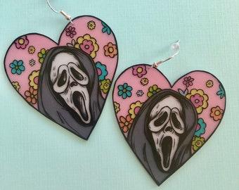 Ghostface floral earrings