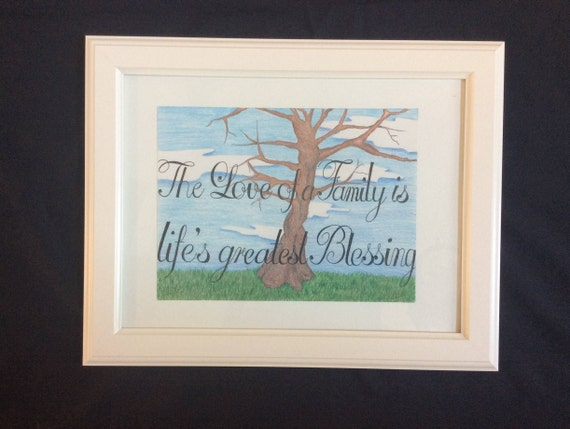 Inspirational Quote, Tree painting, The Love of a Family, Fall Picture, The  Importance of Family