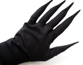 Demon Gloves -  gloves with extended pointy fingers ( claw death note necro ryuk freaky spooky halloween diabolic scary dark ))