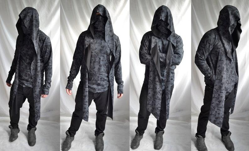 9424697b Subterfuge Hoodie tags camo gray black mens top longsleeve | Etsy